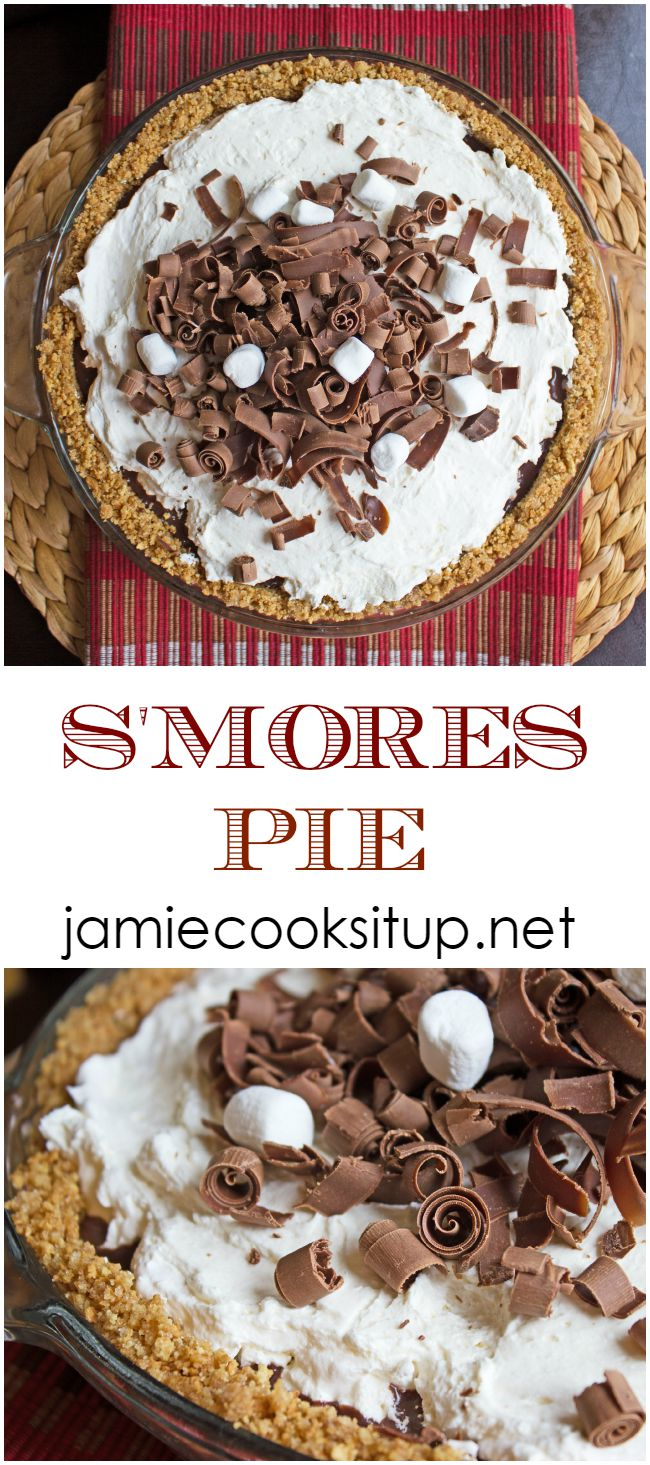 S'mores Pie from Jamie Cooks It Up