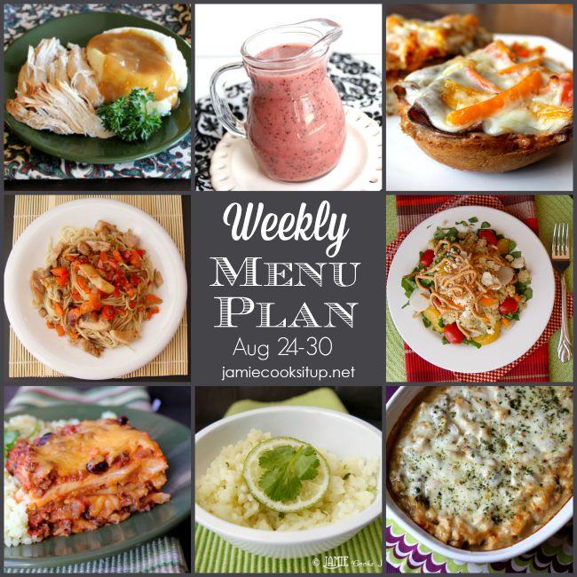 Weekly Menu Plan: Aug 24-30