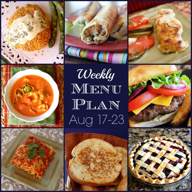 Weekly Menu Plan: August 17-23