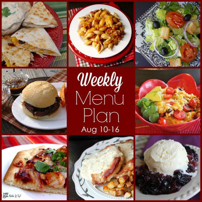 Weekly Menu Plan: August 10-16