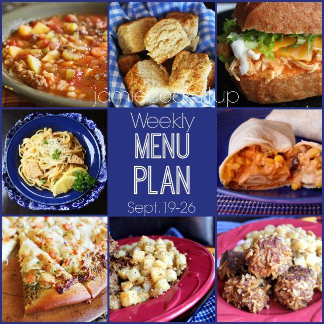 Weekly Menu Plan: Sept. 19-26