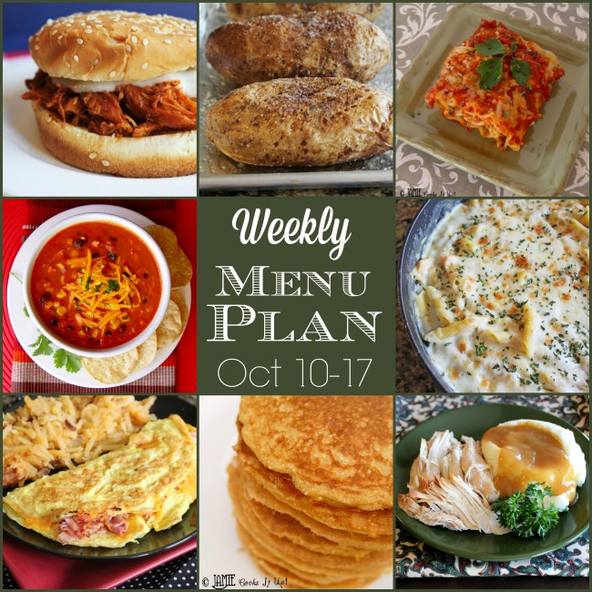 Weekly Menu Plan: Oct 10-17