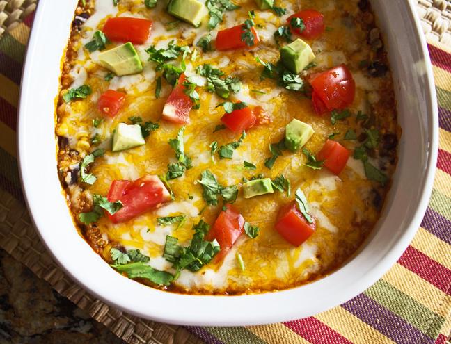 Quinoa Enchilada Bake from Jamie Cooks It Up!