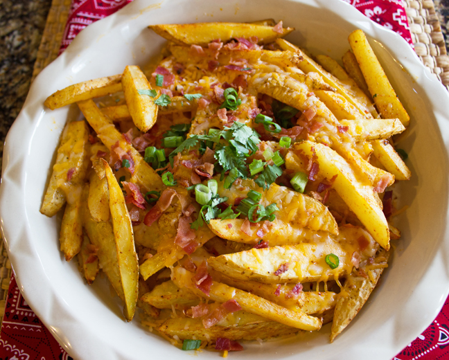 Skinny Texas Cheese Fries from Jamie Cooks It Up!