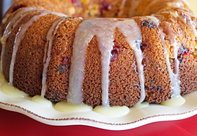 Cranberry Orange Bundt Cake from Jamie Cooks It Up