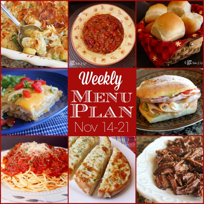 Weekly Menu Plan: Nov 14-21