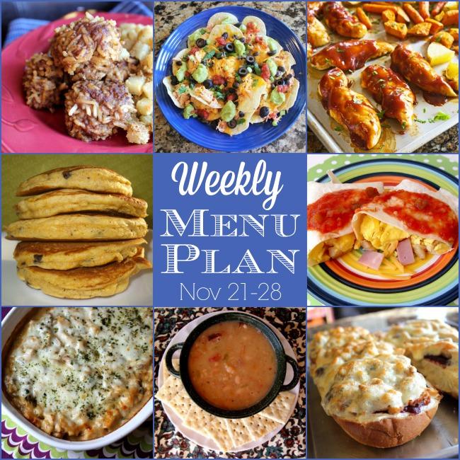 Weekly Menu Plan: Nov 21-28
