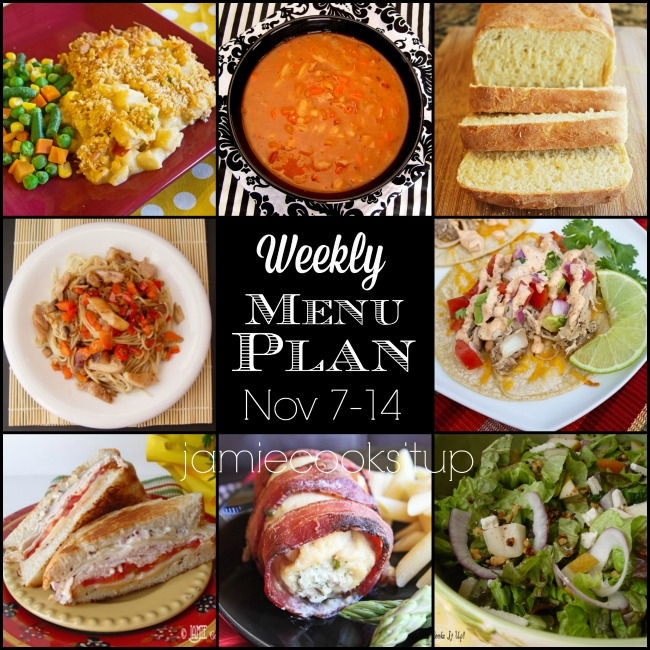Weekly Menu Plan: Nov 7-14