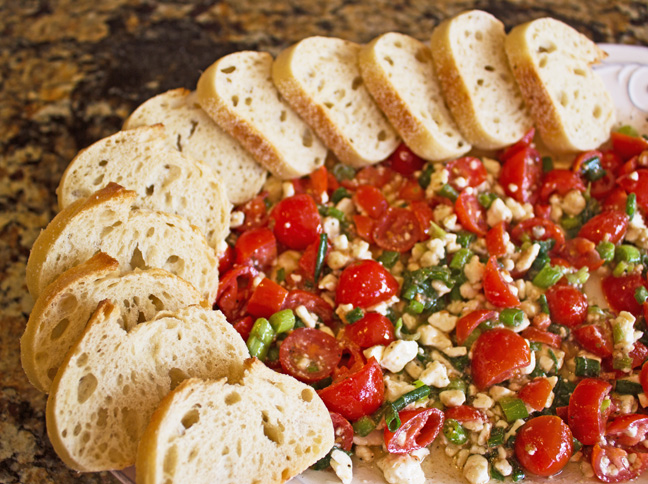 Greek Feta and Tomato Dip from Jamie Cooks It Up!