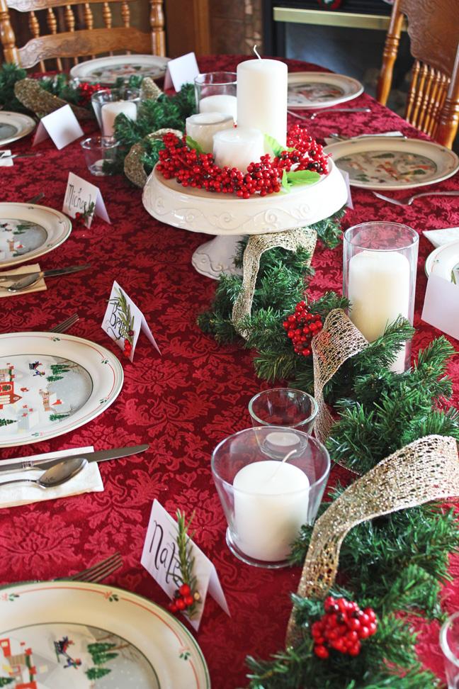full table shot