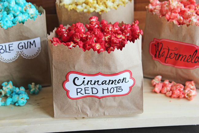 Candy Flavored Popcorn
