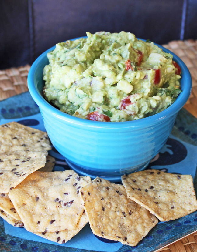 Chunky Guacamole at Jamie Cooks It Up!