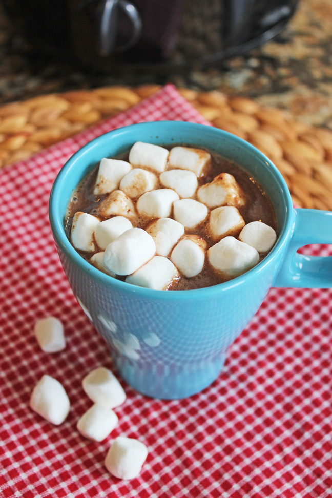 Crock Pot Hot Chocolate from Jamie Cooks It Up!