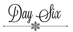 Day 6 snowflake