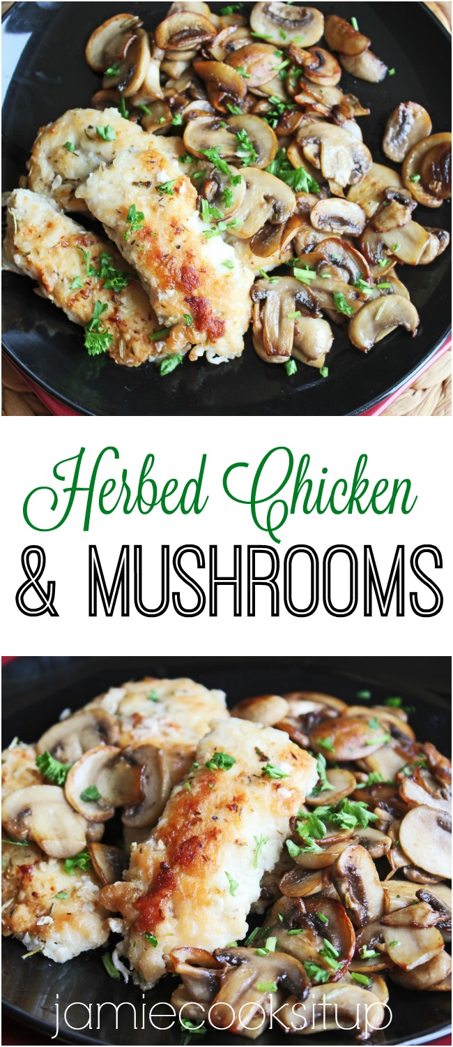 Herbed Chicken and Mushrooms from Jamie Cooks It Up