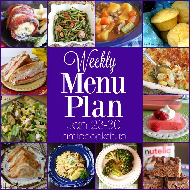 Weekly Menu Plan: Jan 23-30