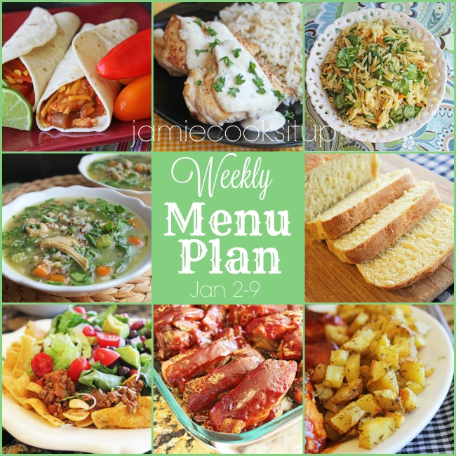 Weekly Menu Plan: Jan 2-9, off to a brand new start!