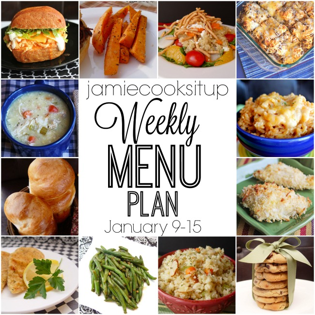 Weekly Menu Plan: January 9-15
