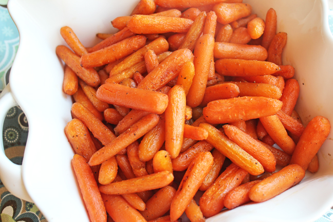 Balsamic Brown Sugar Glazed Carrots from Jamie Cooks It Up