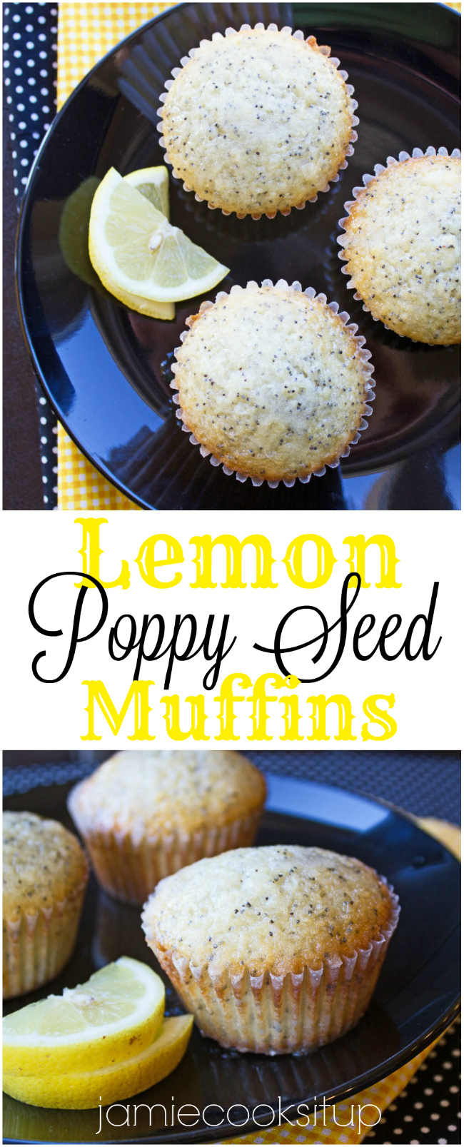 Lemon Popp Seed Muffins at Jamie Cooks It Up!