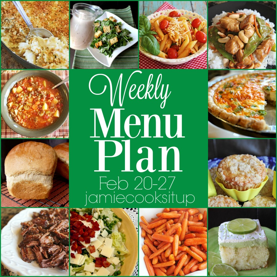 Weekly Menu Plan: Feb 20-27