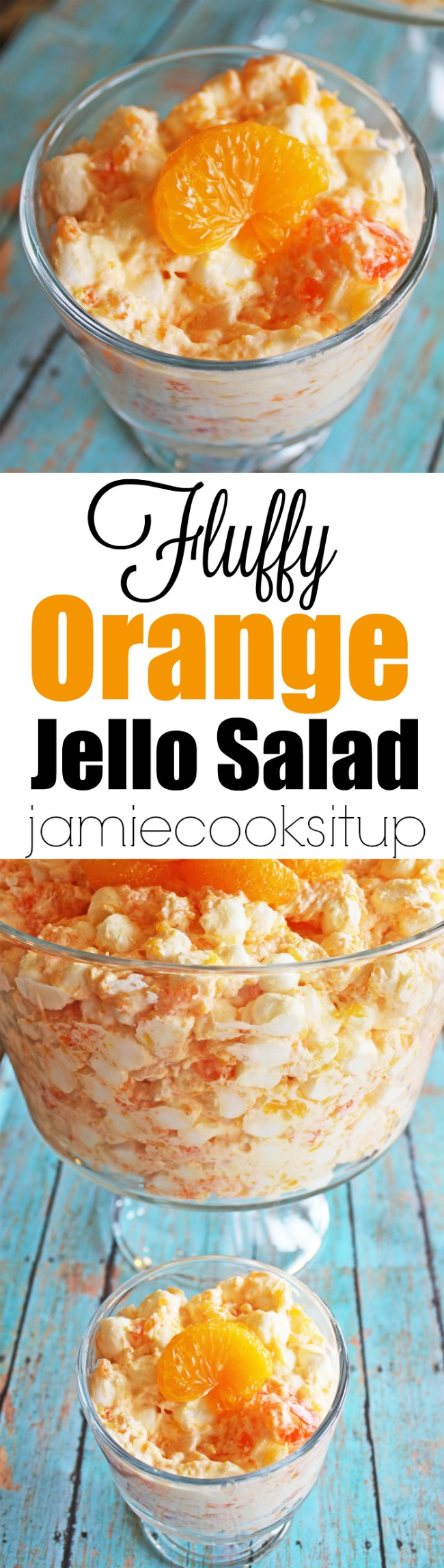 Fluffy Orange Jello Salad from Jamie Cooks It Up