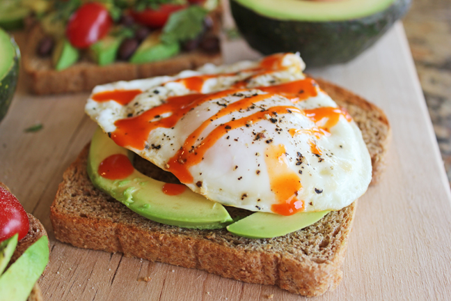 Fried Egg Avocado Toast from Jamie cooks It Up!