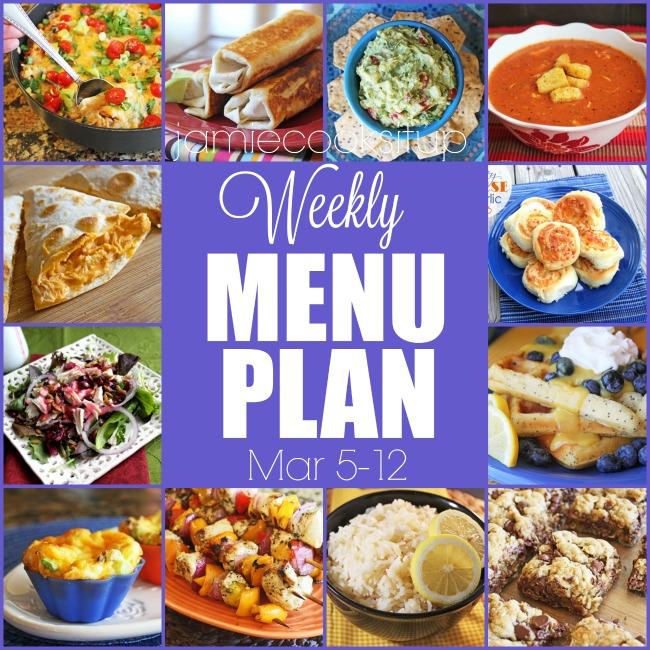 Weekly Menu Plan: Mar 5-12