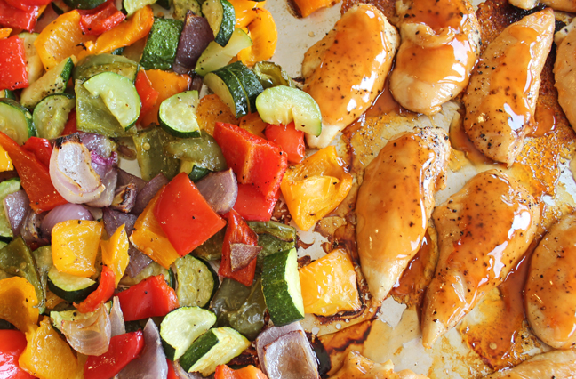 Sheet Pan Sweet and Sour Chicken and Veggies