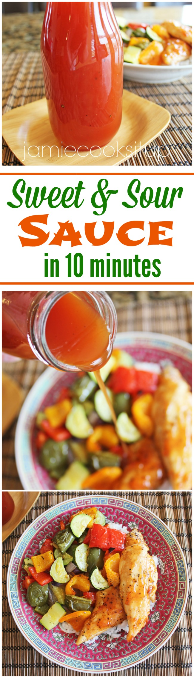 Sweet and Sour Sauce in 10 minutes from Jamie Cooks It Up