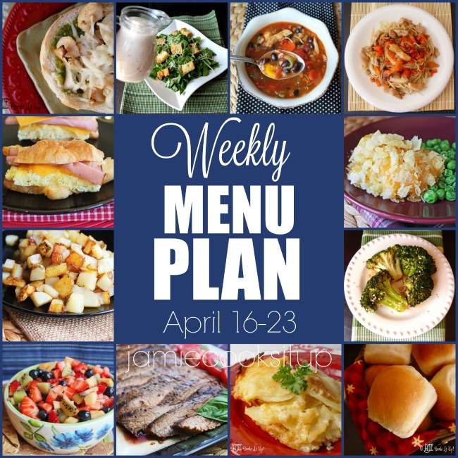 Weekly Menu Plan: April 16-23