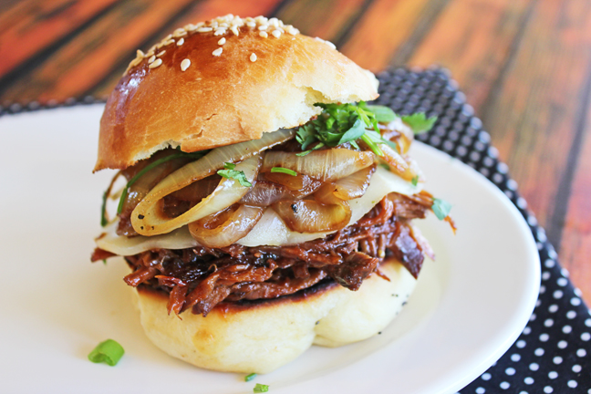 Loaded Bbq Beef Sandwich from Jamie Cooks It Up!