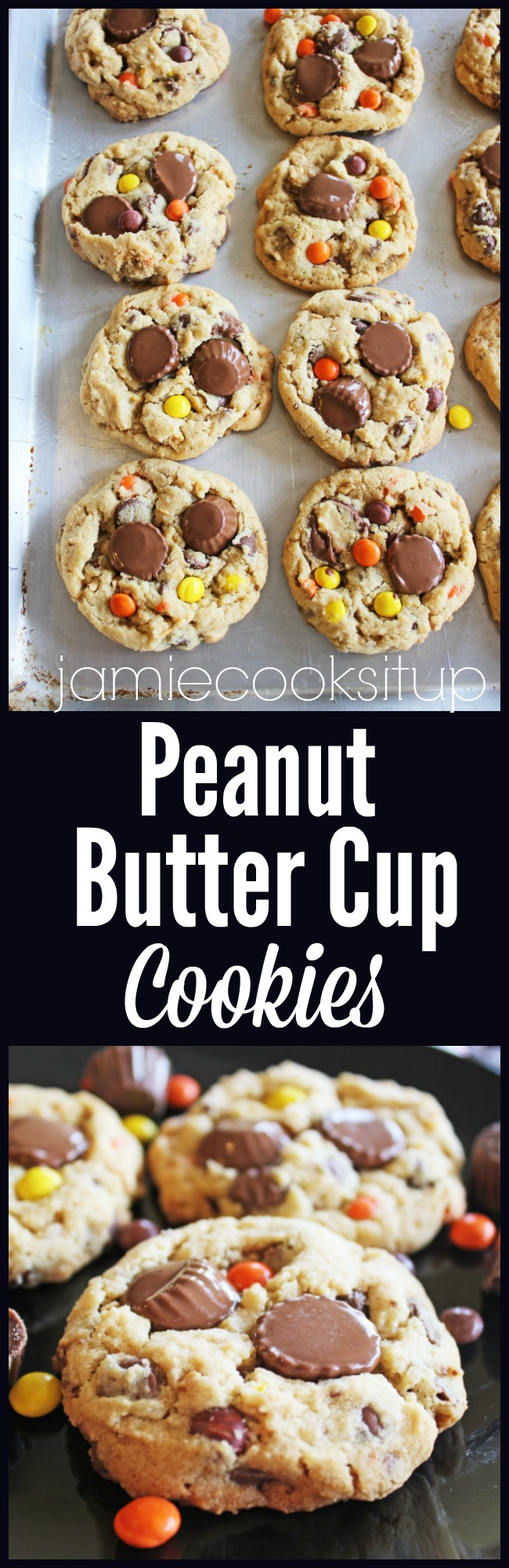 Peanut Butter Cup Cookies at Jamie Cooks It Up