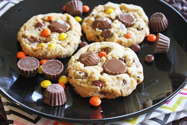 Peanut Butter Cup Cookies from Jamie Cooks It Up