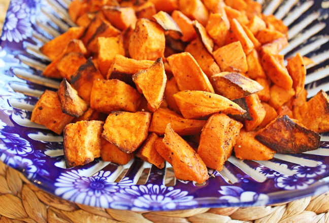 Savory Roasted Sweet Potatoes from Jamie Cooks It Up!