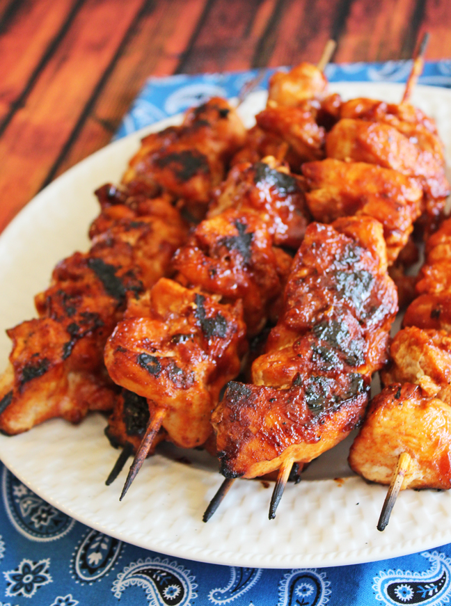 Barbeque Chicken Kabobs