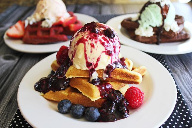 Cake Mix Dessert Waffles