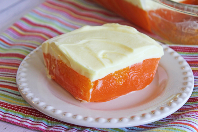 Orange and Lemon Jello Salad from Jamie Cooks It Up!