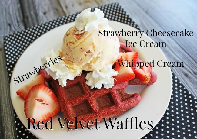 Red Velvet Cheesecake Waffles