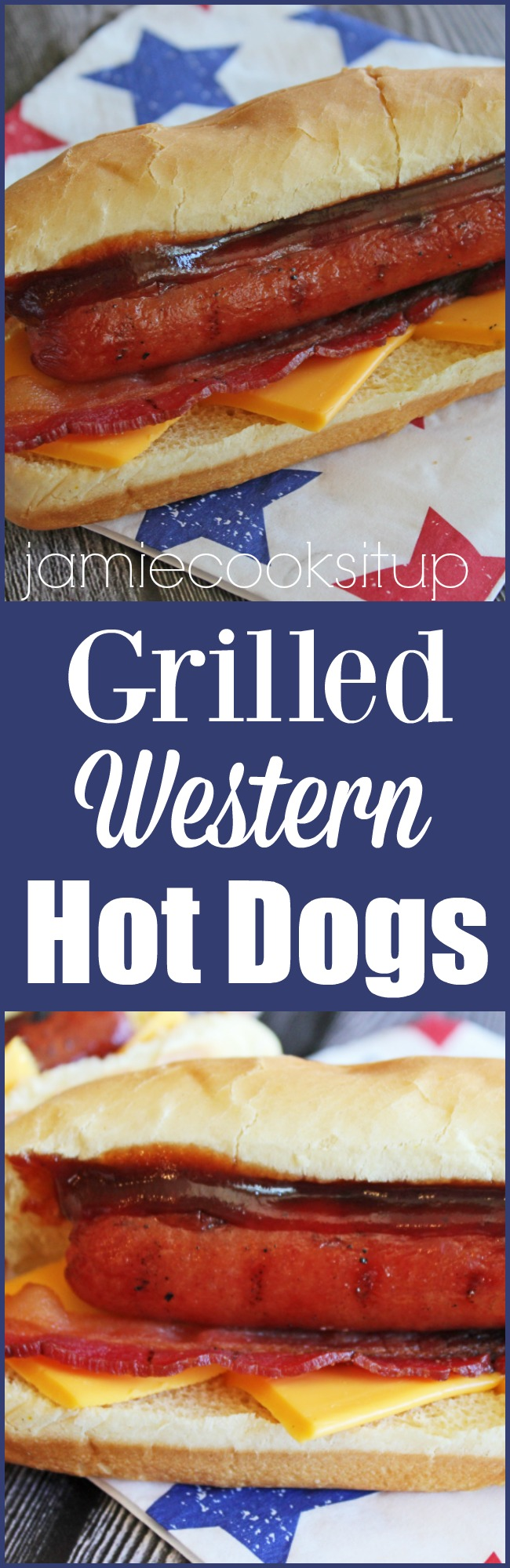 Grilled Western Hot Dogs from Jamie Cooks It Up