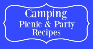 Summertime Blue Camping picnic