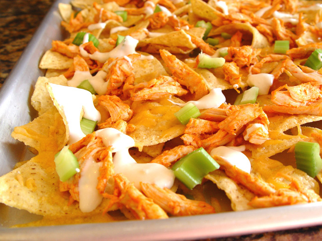 Supreme Buffalo Chicken Nachos