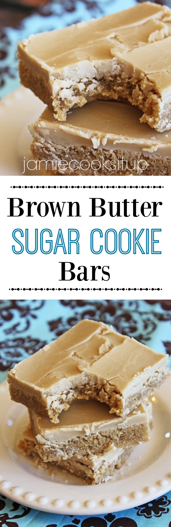 Brown Butter Sugar Cookie Bars from Jamie Cooks It Up!