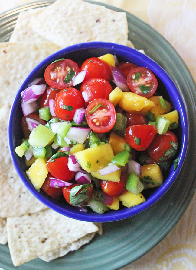 Fresh Mango Salsa from Jamie Cooks It Up