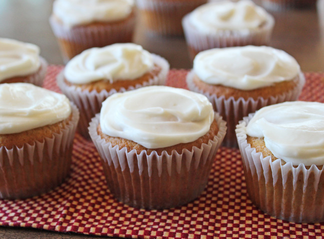 Banana Muffins with Cream Cheese Frosting Jamie Cooks It Up!