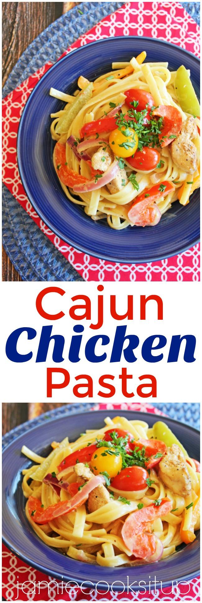 Cajun Chicken Pasta from Jamie Cooks It Up!