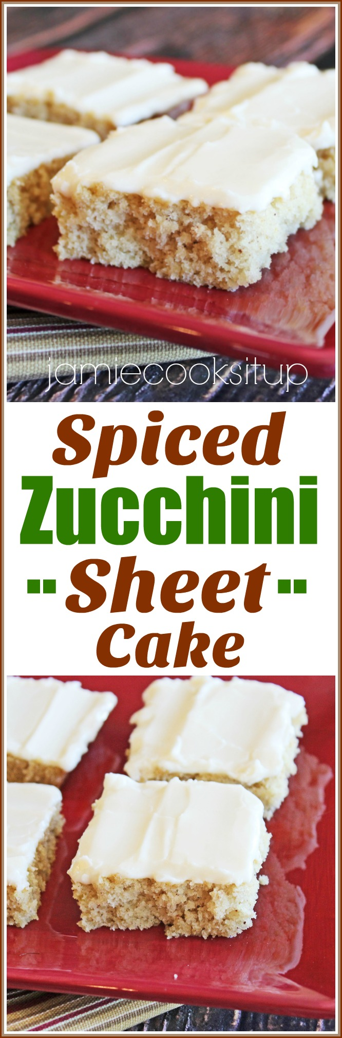 Spiced Zucchini Sheet Cake from Jamie Cooks It Up!