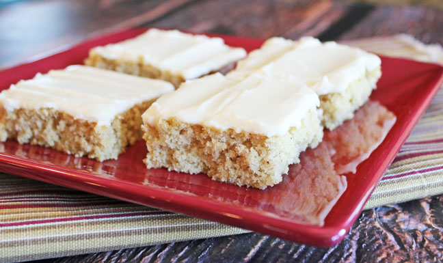 Zucchini Bars with Sour Cream Icing