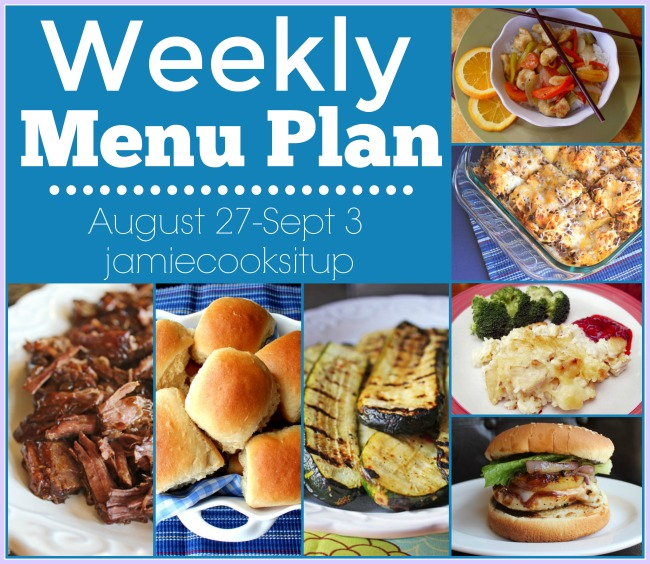 Weekly Meal Plan: August 27-Sept 3