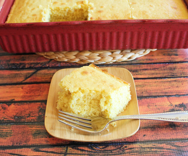Buttermilk Corn Bread with pan